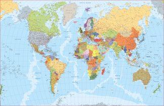 Mapa mundo inglés
