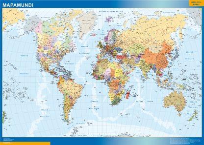 Mapamundi Estados Usa plastificado gigante
