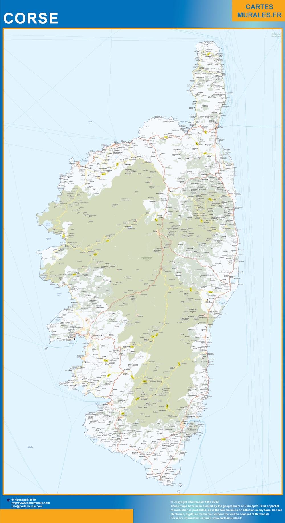 Region Corse plastificado gigante