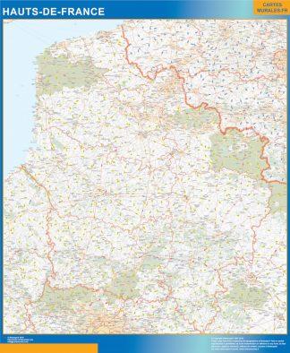 Region Hauts de France plastificado gigante