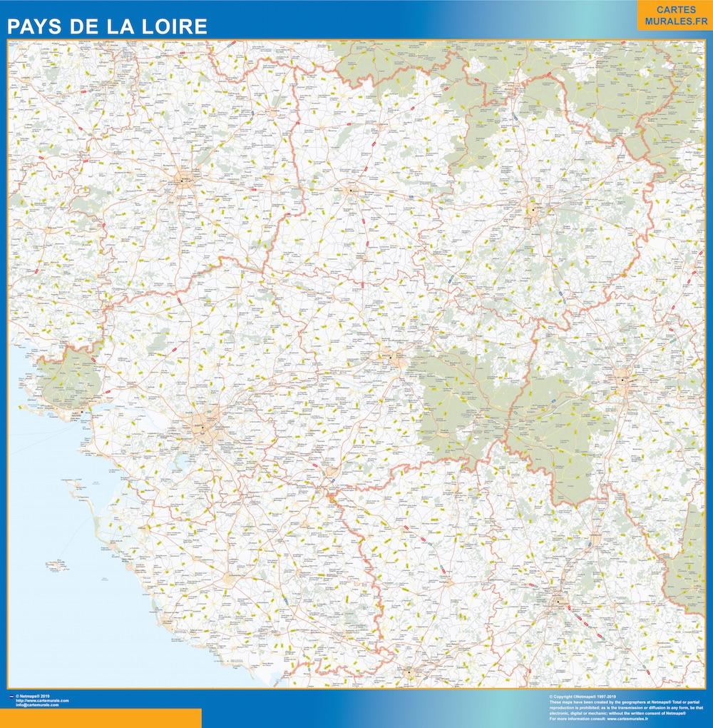 Region Pays de la Loire plastificado gigante