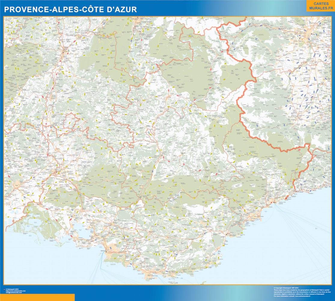 Region Provence-alpes cote azur plastificado gigante