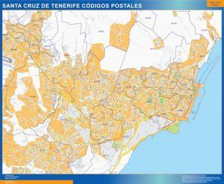 Santa Cruz de Tenerife códigos postales plastificado gigante