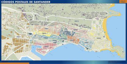 Santander códigos postales plastificado gigante
